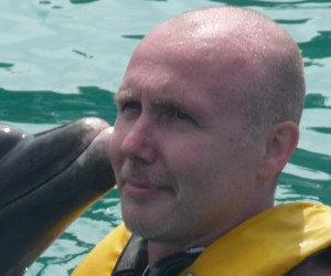 How often do you get a sloppy dolphin kiss
